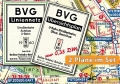Berlin-Stadtpläne mit Liniennetzen 1960 der BVG-West und der BVG-Ost