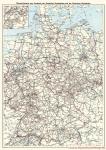 Deutsche Reichsbahn Deutsche Bundesbahn Gesamtdeutsche Kursbuchkarte 1970