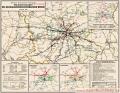Deutsche Reichsbahn-Gesellschaft Übersichtskarte der Direktion Berlin 1933