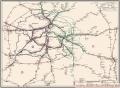 Deutsche Reichsbahn Streckenplan der Direktion Berlin 1973