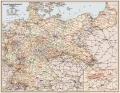 Deutsche Reichsbahngesellschaft Übersichtskarte Deutschland 1926