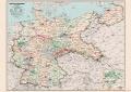 Deutsche Reichsbahn Übersichtskarte Februar 1938