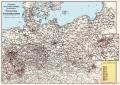Preußische Staats-Eisenbahnverwaltung Übersichtskarte Preußen 1915